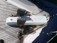 Bowsprit with new wire for Windlass
