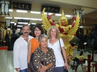 Khun Pao, her mom, Denise and I enjoying our day at the museum
